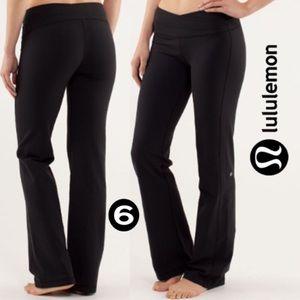 LULULEMON Astro Fold Over Waist Pants Black 6